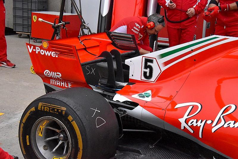 Ferrari: tolta la T-wing per ridurre la resistenza all'avanzamento della SF71H