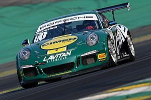 Porsche Relato de classificação Cacá/Dahruj é pole em Interlagos; Nelsinho/Pedro Piquet é 2º