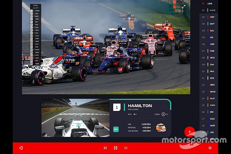 F1 offers first look of new streaming service