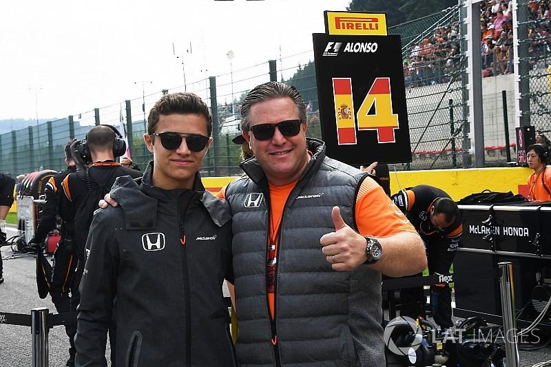 Hivatalos: Lando Norris lesz a McLaren-Renault teszt-és tartalékversenyzője