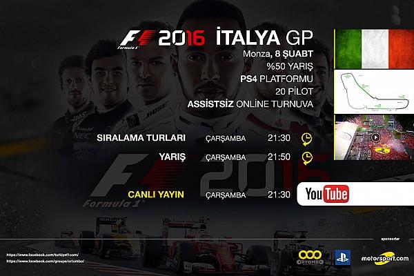 SİMÜLASYON DÜNYASI Son dakika F1 2016 online turnuva: İtalya GP - Canlı Yayın