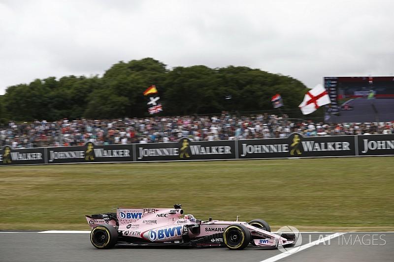 Pérez reconoce que cometió un error en la largada en Silverstone