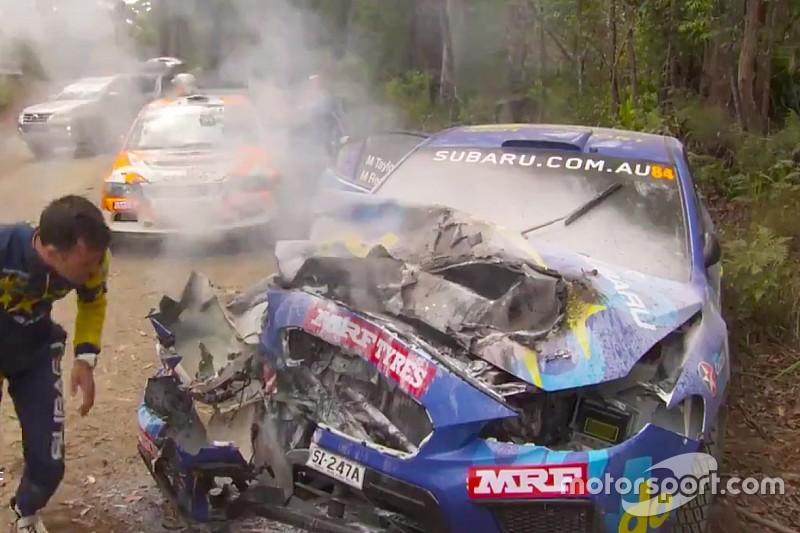 Vídeo: Molly Taylor sale ilesa de un impactante accidente en Australia