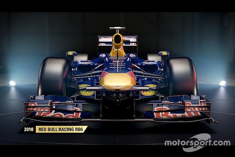 Une Red Bull parmi les F1 classiques de F1 2017