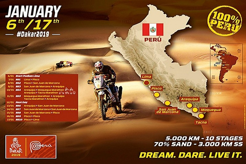 El Dakar revela su recorrido para 2019