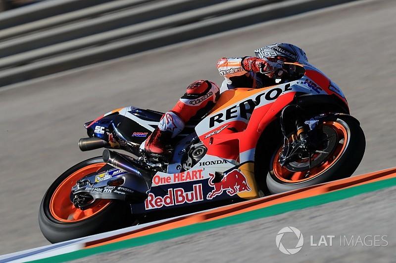 Valencia, Libere 3: Marquez vola, Dovi solo 8°. Rossi in Q2 di un soffio