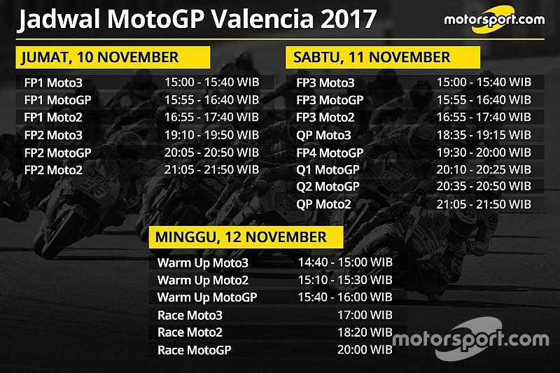 Jadwal lengkap MotoGP Valencia 2017
