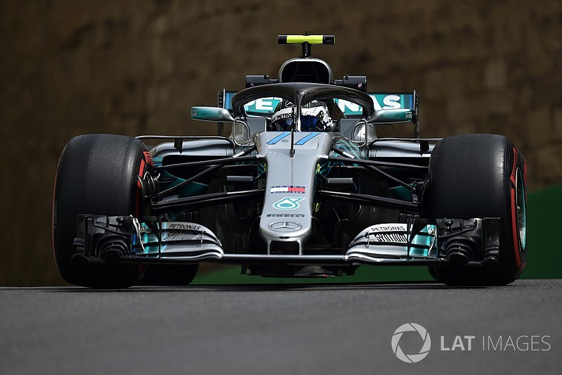 Azerbaijan GP: Bottas leads FP1 as Verstappen crashes
