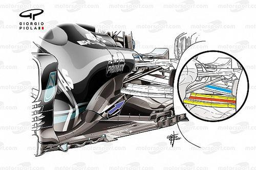 Mercedes: sospensione simile a Red Bull, ma con diversa applicazione