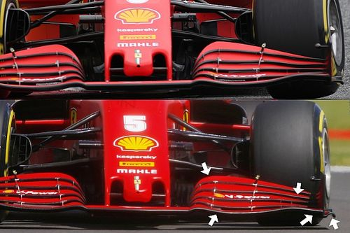 Teljesen új első szárnyakat használ Silverstoneban a Ferrari