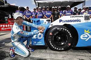 IndyCar Отчет о квалификации Сато выиграл поул в Поконо, Хантер-Рей попал в серьезную аварию