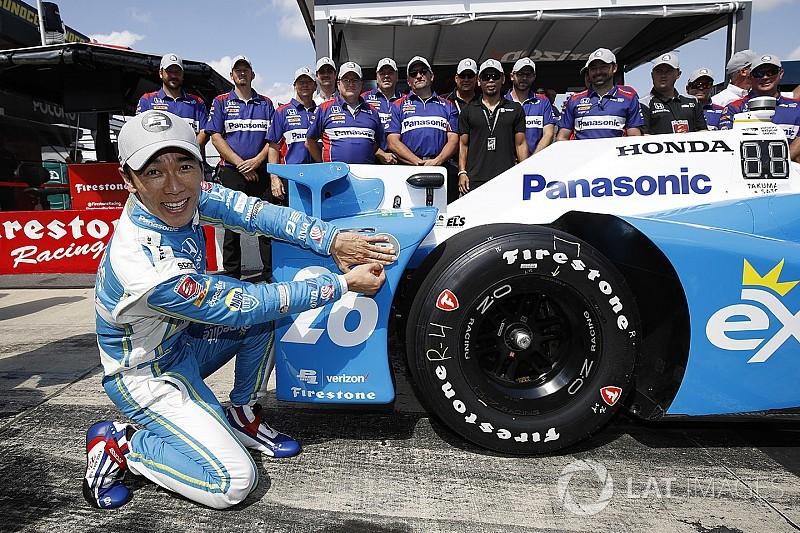Takuma Sato centra la pole position a Pocono
