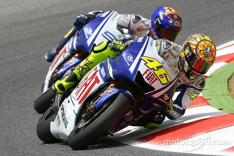 Rossi recuerda la victoria sobre Lorenzo en Barcelona 2009 como su mejor duelo