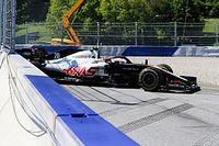 Grosjean ve Magnussen fren sorunu yüzünden yarış dışı kalmış