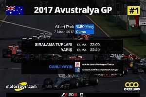 FORMULA 1 LİGİ Son dakika 2017 Avustralya GP Sanal Turnuva: Canlı Yayın