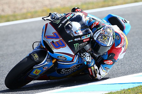 Moto2 Race report Jerez Moto2: Marquez takes maiden win as Morbidelli crashes