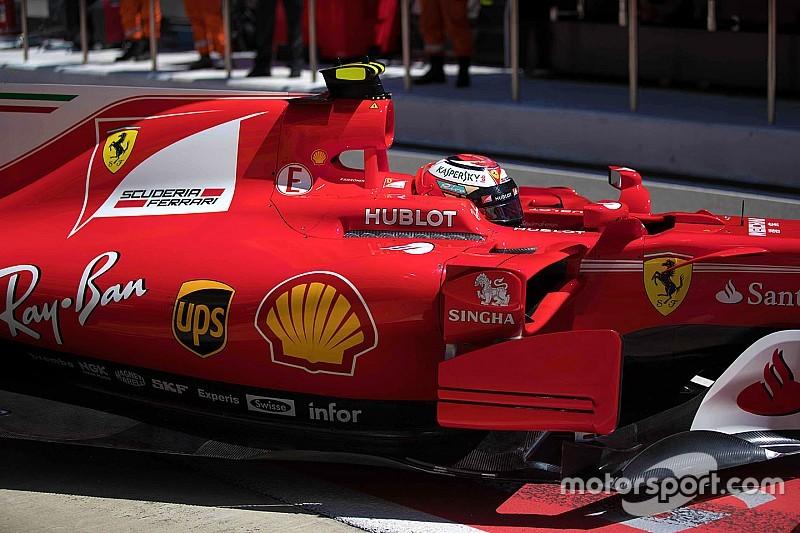 A Ferrari padlólemeze jobban hajlik, mint Maldonado előtt a tér
