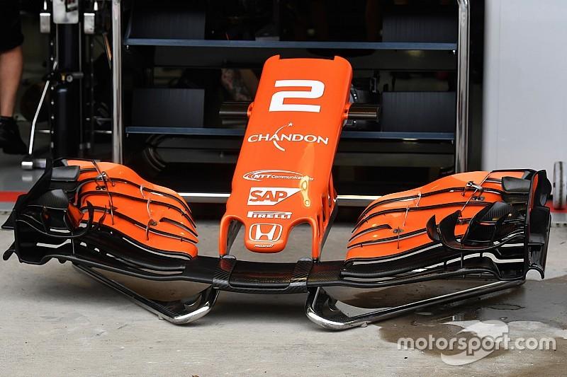 McLaren: l'ultimo flap dell'ala anteriore è più scarico