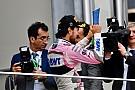 Sergio Pérez celebra en redes sociales su octavo podio