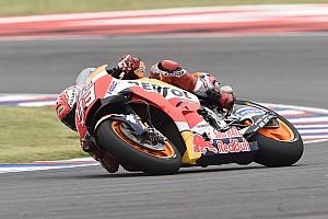 Márquez empieza dominando en Austin; Rossi, segundo