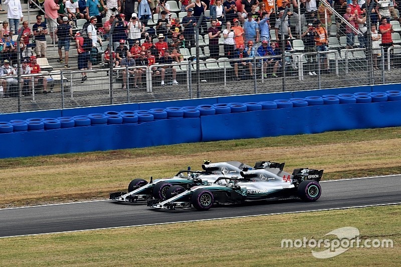 Mercedes aurait aussi gelé les positions avec Bottas en tête