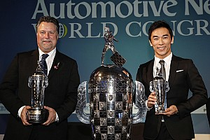 """IndyCar Breaking news Sato, Andretti receive their """"Baby Borgs"""" in Detroit"""