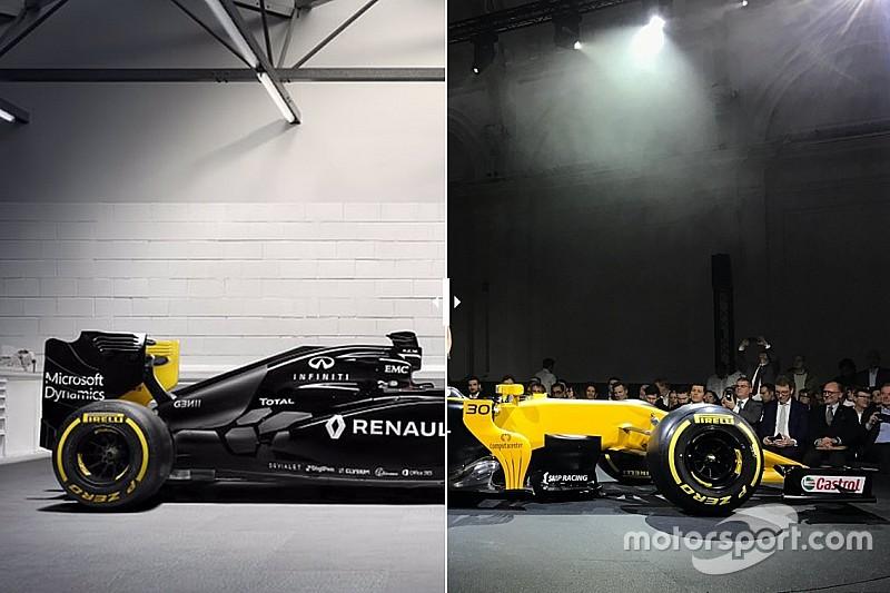 Formel 1 2017: Renault RS16 und RS17 im Vergleich