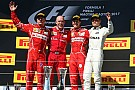Vettel termina sequía de victorias y lidera doblete de Ferrari