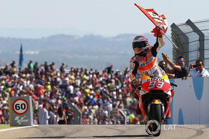 """Márquez, vainqueur en Aragón, se """"battait contre sa moto"""""""