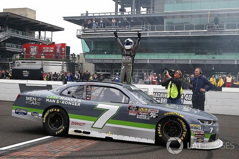 Justin Allgaier wins Xfinity Series thriller at Indianapolis