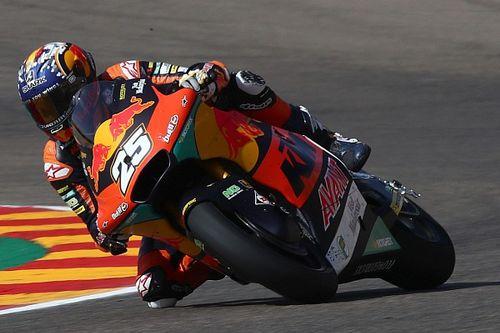 Aragon Moto2: Injured Fernandez dominates, Lowes crashes out