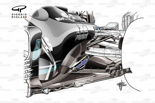 Cómo Mercedes F1 está tratando de recuperar carga aerodinámica