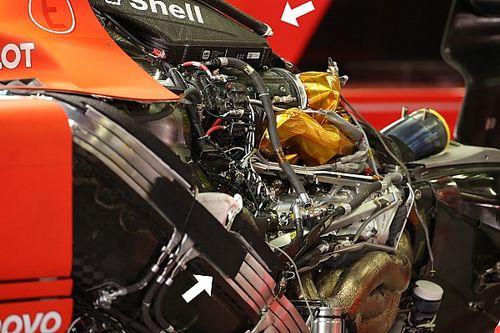Ferrari e Mercedes con diverse filosofie di radiatori