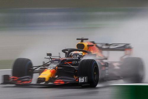 Verstappen driftował przez Vettela