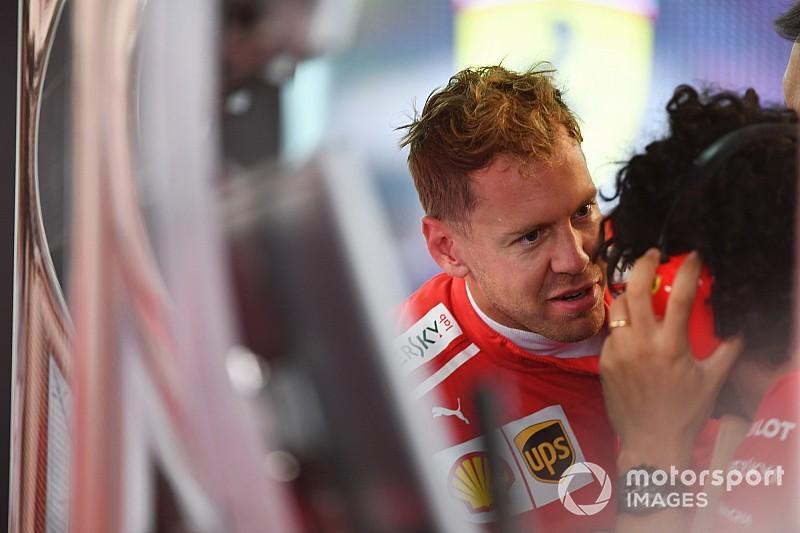 Vettel se mantiene optimista, a pesar de un negativo viernes