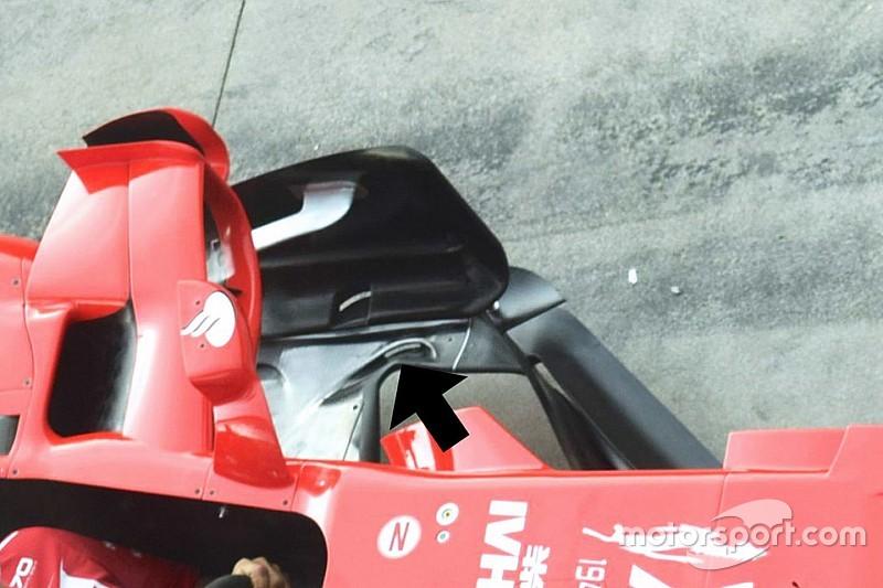 Ferrari: приховані деталі оновленого днища SF70H