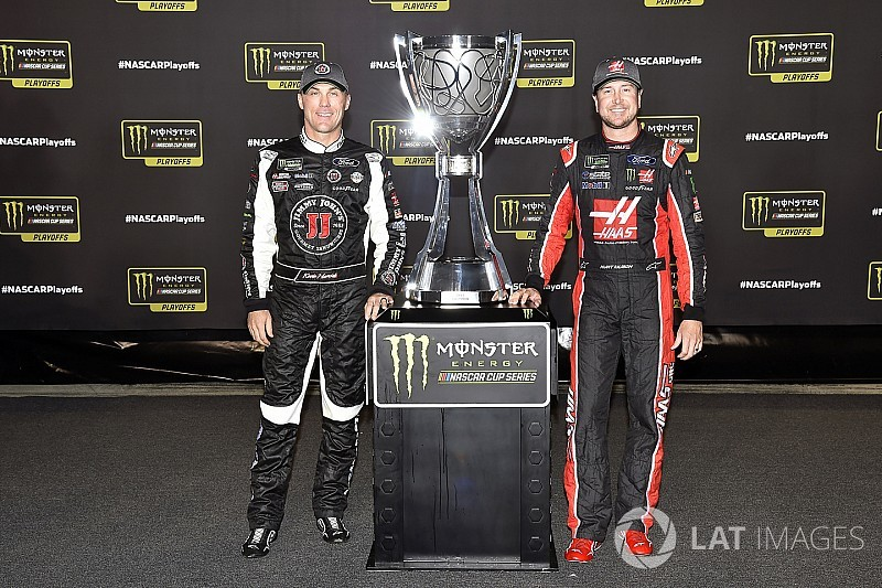 SHR teammates Harvick and Busch take playoff hit with Loudon DNFs