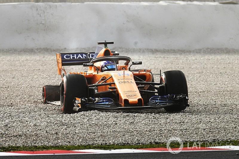 Formel-1-Test 2018: Fernando Alonso mit erstem Unfall