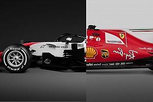 Fórmula 1 Análisis Comparativa: el Ferrari SF70H vs. el Haas VF-18