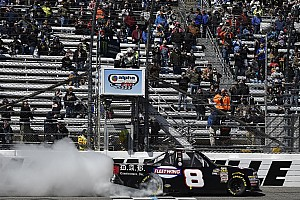 NASCAR Truck Race report Nemechek fends off Benjamin in thrilling Martinsville Truck finish