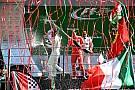 La historia detrás de la foto: los confetis del podio de Monza