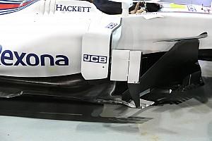 A Mercedest imitálta oldalsó légterelő idomával a Williams