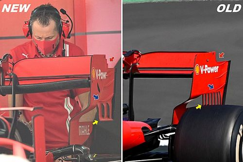 Cómo Ferrari se inspiró en el endplate de Mercedes para Rusia