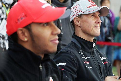 هاميلتون بات يفهم الآن دور شوماخر بتحقيق النجاح في الفورمولا واحد