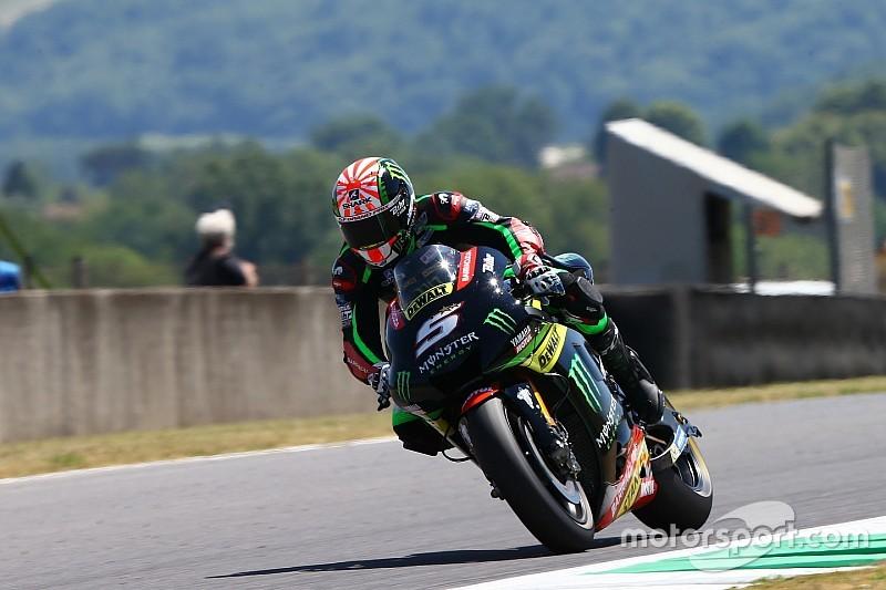 EL4 - Zarco meilleur temps, Rossi au tapis