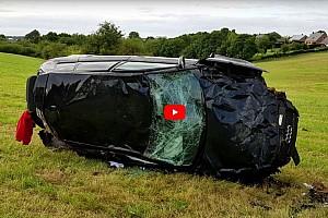 OTOMOBİL Son dakika Audi RS3 200km/s hızla kaza yaparsa ne olur?