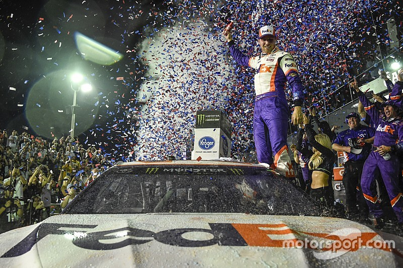 Daytona 500: Denny Hamlin wins as JGR goes 1-2-3