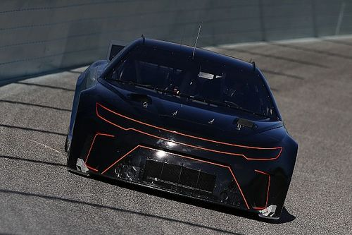 Fontana test of Next Gen car includes its first wreck