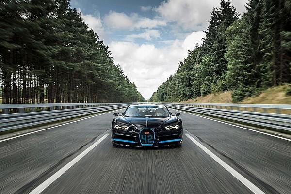 Montoya alcanzó los 400 km/h en un Bugatti Chiron