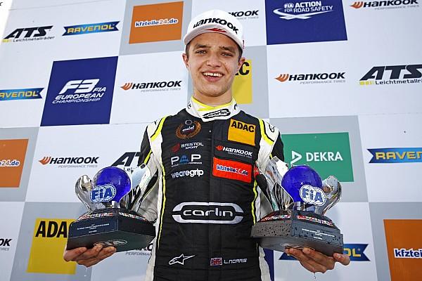 نوريس يسجّل مشاركته الأولى في الفورمولا 2 في أبوظبي